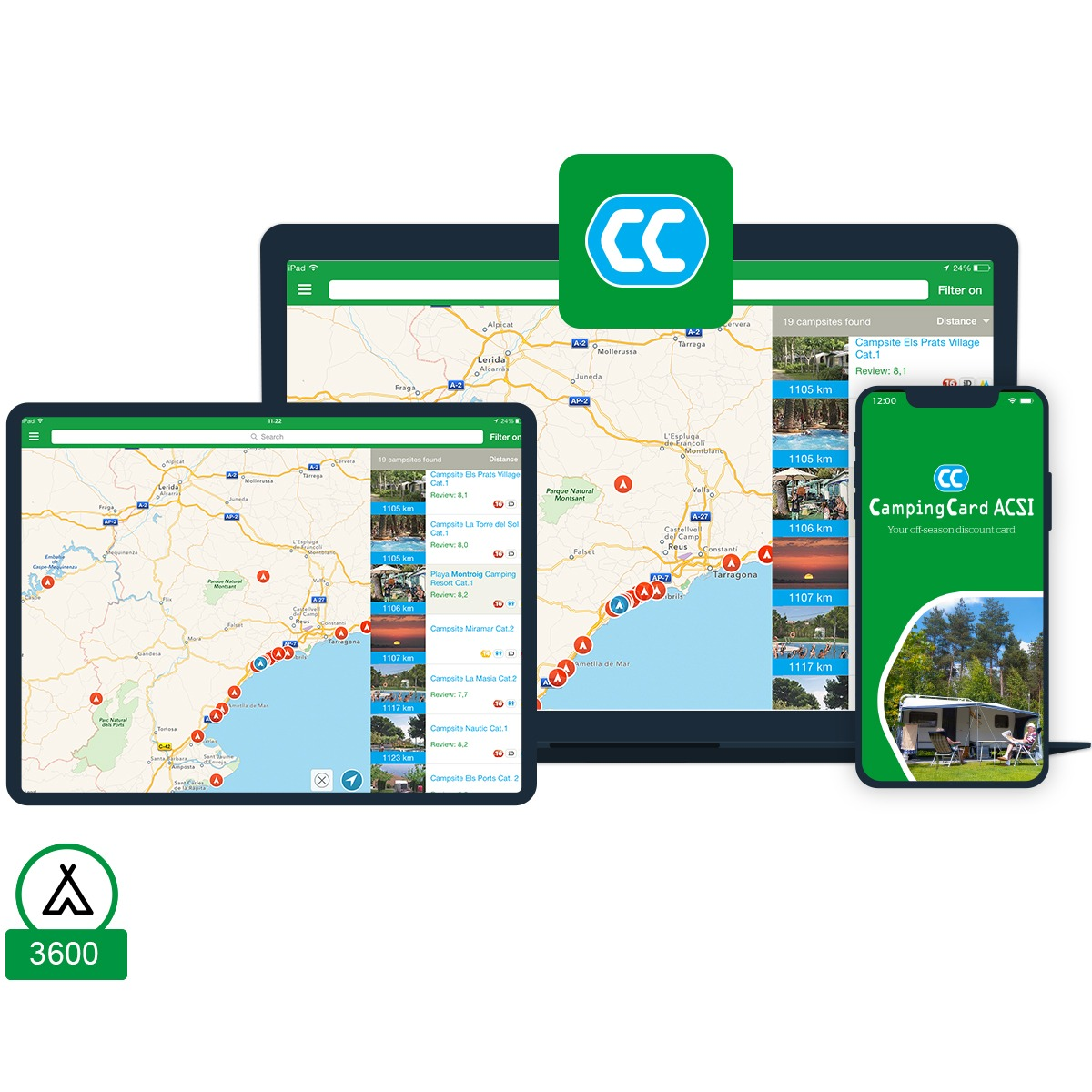 CampingCard ACSI-appen 2020 (campingar)
