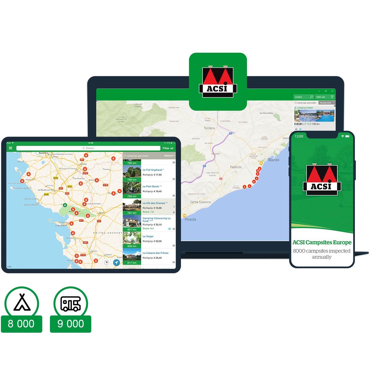 L'appli ACSI Campings Europe