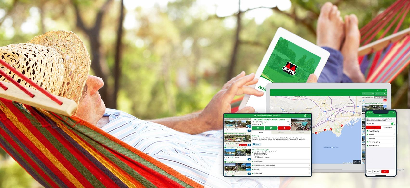 ACSI Campingar Europa-app